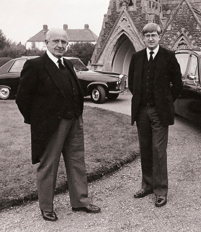 Edward and Nigel Carter outside our private Chapel of Rest in Abingdon.